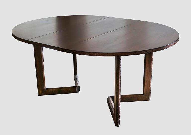 frank lloyd wright for henredon dining table with chairs