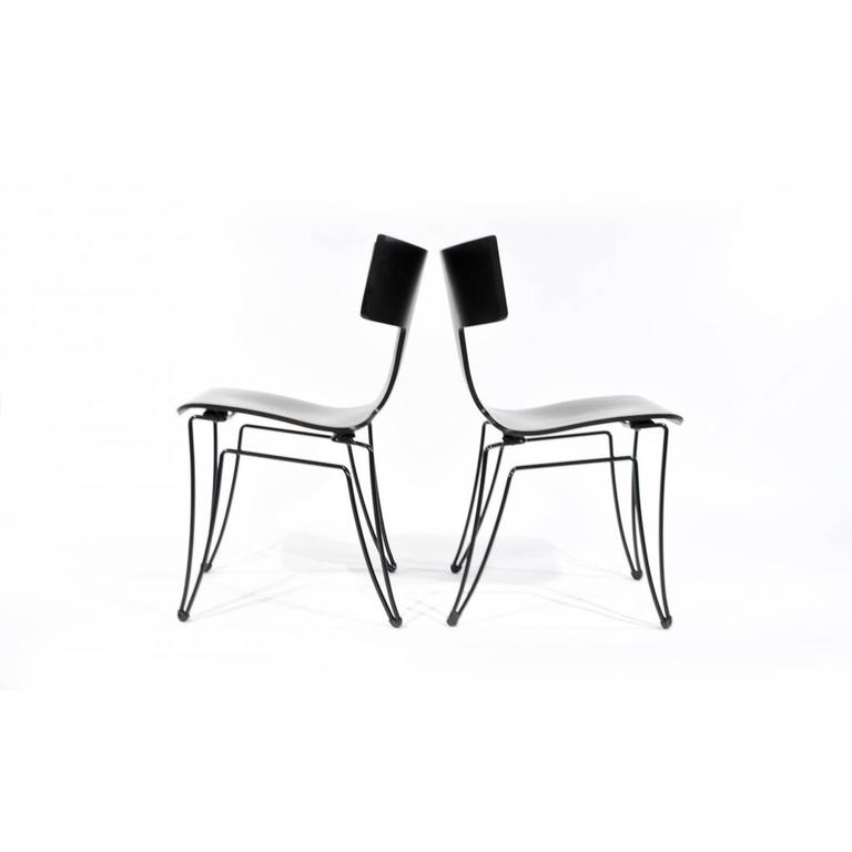 Modern Pair of Anziano Chairs by John Hutton for Donghia For Sale