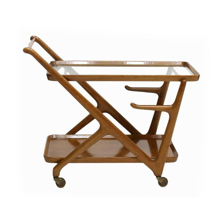 Italian 1950s Bar Cart Designed by Cesare Lacca for Cassina 2