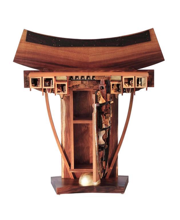Unique Foyer Furniture : Unique mix wood console table entryway hallway