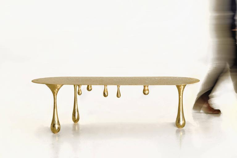 Melting Brass Coffee Table/Cocktail Table by Zhipeng Tan 2
