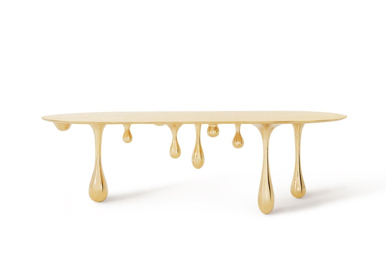 Contemporary Melting Brass Coffee Table/Cocktail Table by Zhipeng Tan For Sale