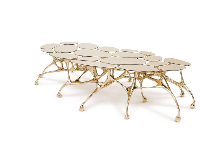 Brass Coffee Table/Accent Table by Zhipeng Tan 3