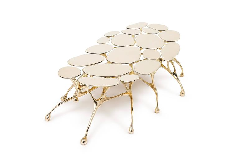 Brass Coffee Table/Accent Table by Zhipeng Tan 4