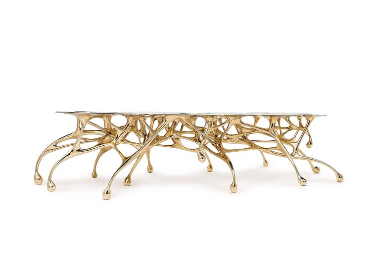 Brass Coffee Table/Accent Table by Zhipeng Tan 5