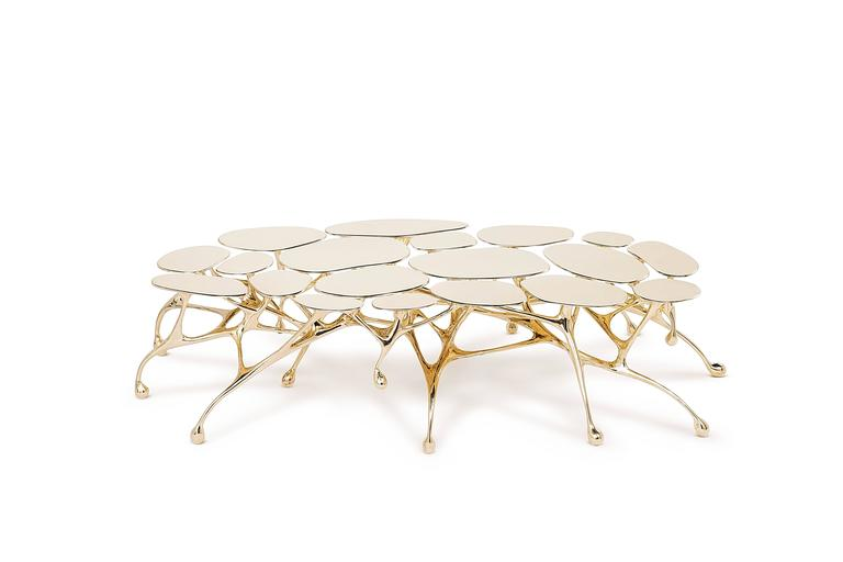 Brass Coffee Table/Accent Table by Zhipeng Tan 6
