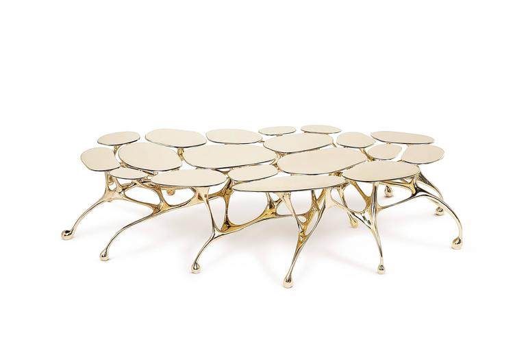Brass Coffee Table/Accent Table by Zhipeng Tan 7