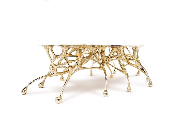 Brass Coffee Table/Accent Table by Zhipeng Tan 8