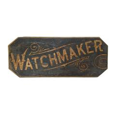 Large Watchmaker Trade Sign