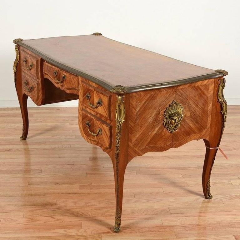 Louis xv style bronze mounted kingwood bureau plat at 1stdibs for Bureau louis xv