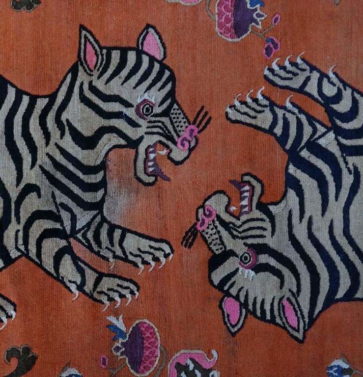 Tiger Rug Doing Goods: Tibetan Playful Tiger Cub Rug For Sale At 1stdibs