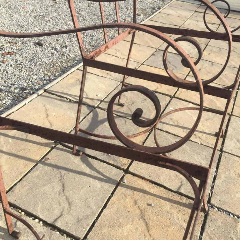 Pair of Regency Garden Chairs, 1940 In Good Condition For Sale In Southampton, NY