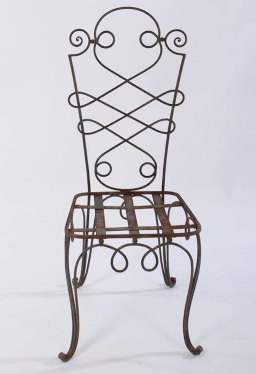 French René Prou Iron Chairs, France 1940 (Set of Eight) For Sale