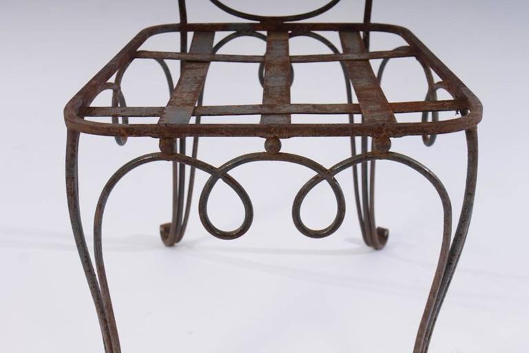 Mid-20th Century René Prou Iron Chairs, France 1940 (Set of Eight) For Sale