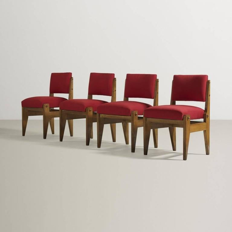 Mid-Century Modern Rare Set of French Modernist Chairs For Sale