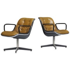 Pair of Charles Pollock Office Chairs, 1970