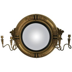 Regency Period Convex Girandole Mirror