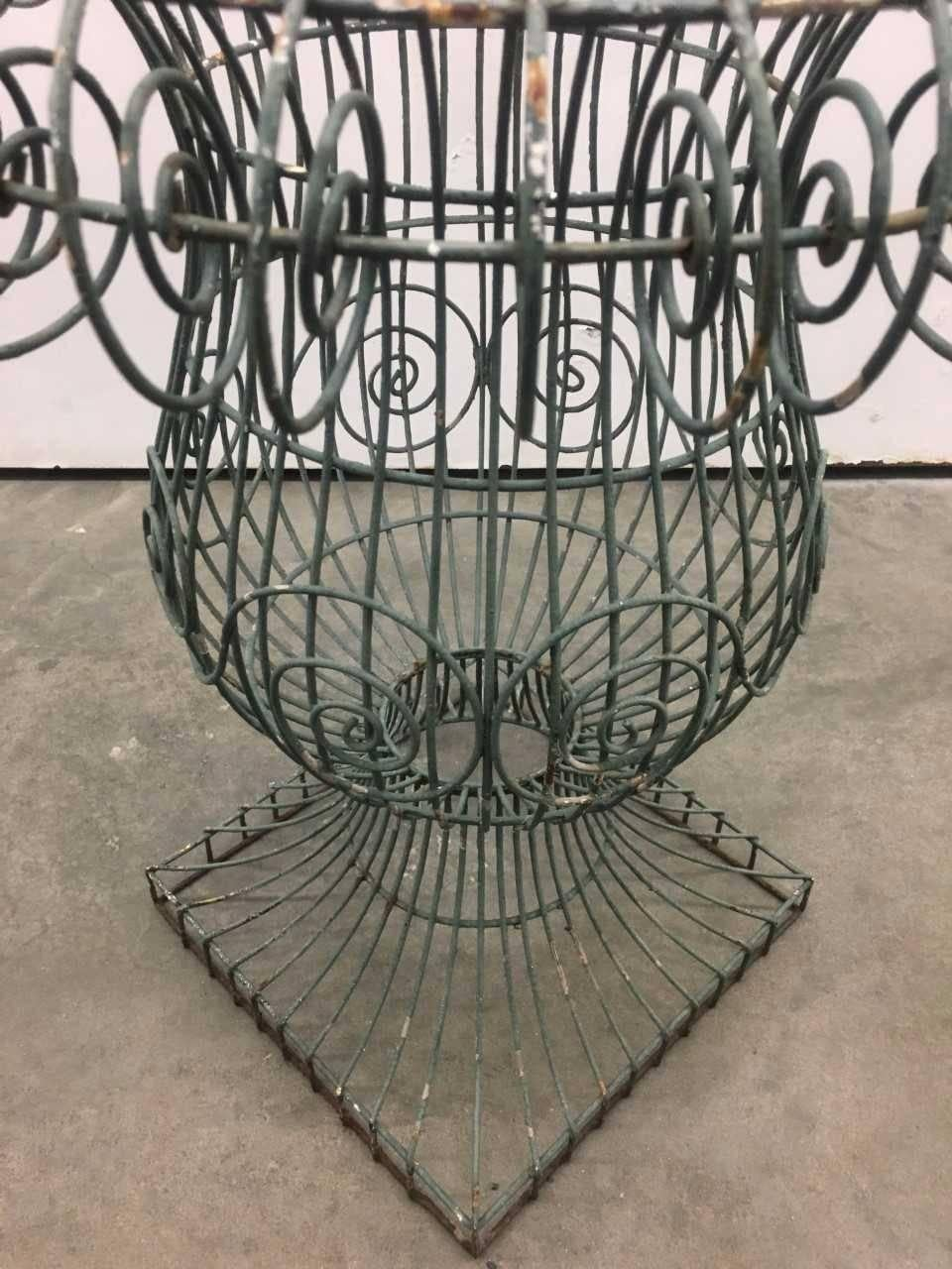 Neoclassical Wire Form Garden Urn For Sale