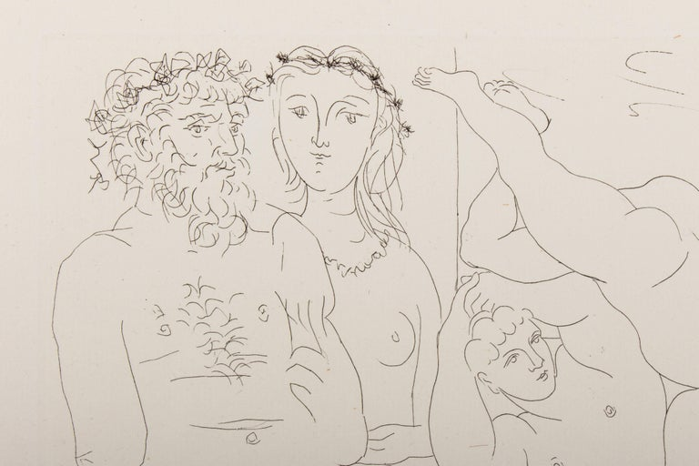 Picasso, Suite Vollard, Sculptor and Modell with a Group of Athletes 3