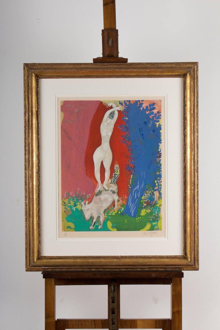 Mid-20th Century (after) Marc Chagall, Femme de Cirque, Paris, 1960 For Sale