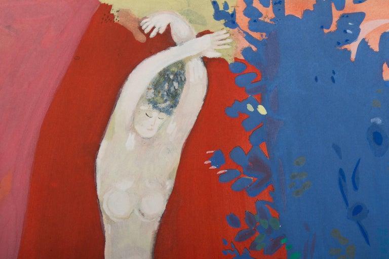 French (after) Marc Chagall, Femme de Cirque, Paris, 1960 For Sale