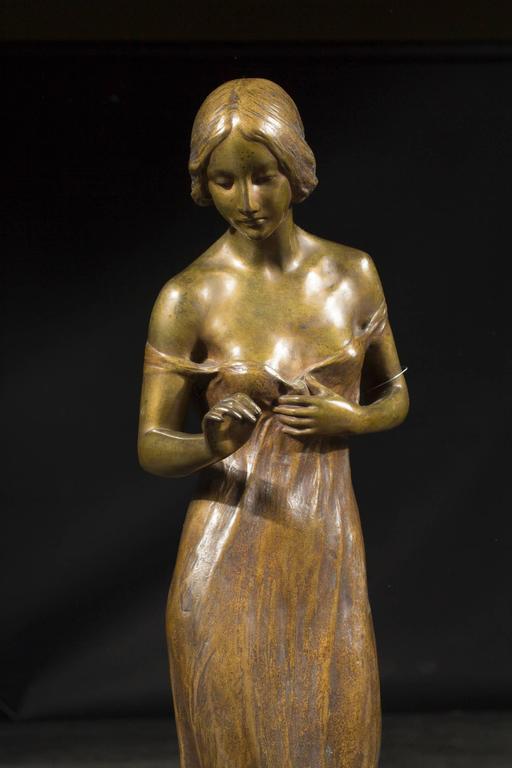exceptional art nouveau bronze sculpture by rudolf podany at 1stdibs. Black Bedroom Furniture Sets. Home Design Ideas