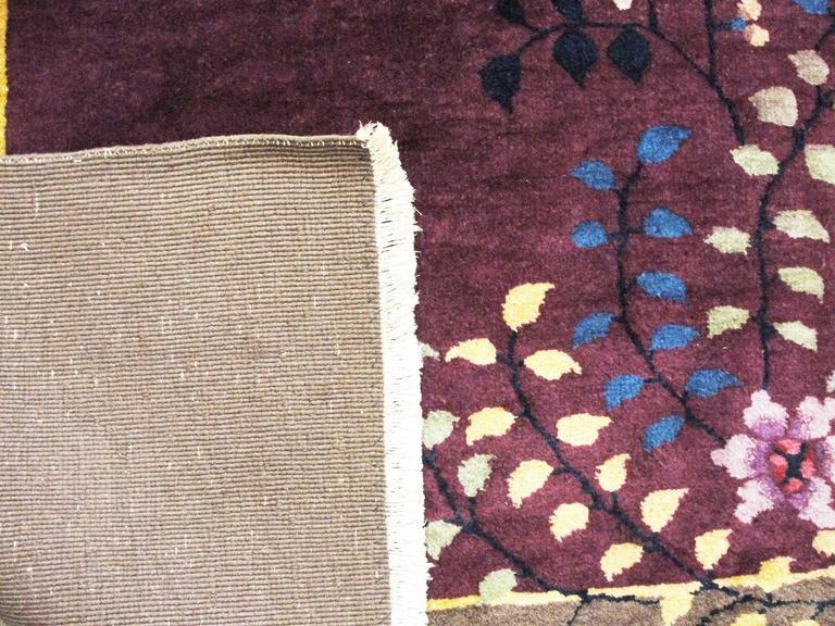 Amazing Art Deco Chinese Oriental Carpet Circa 1920 At