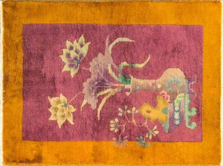 Purple Art Deco Rug For Sale At 1stdibs