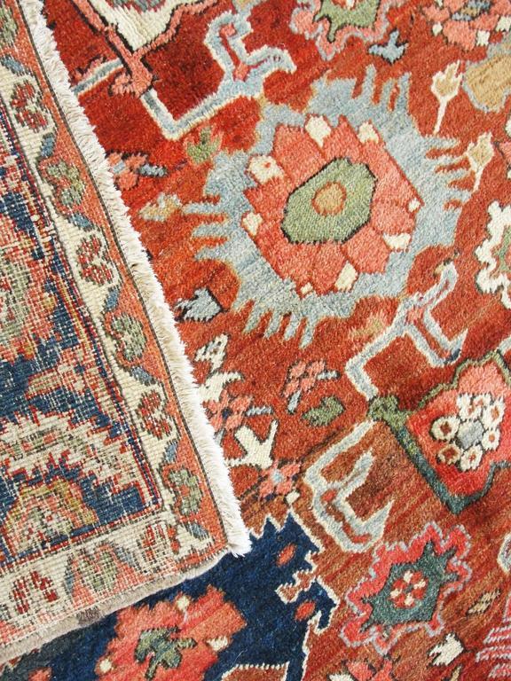 Persian Unusual Serapi Carpet For Sale
