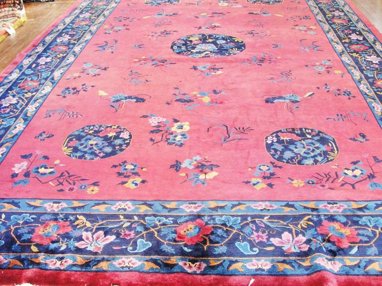 Hand-Knotted Manchester Wool Art Deco Carpet For Sale