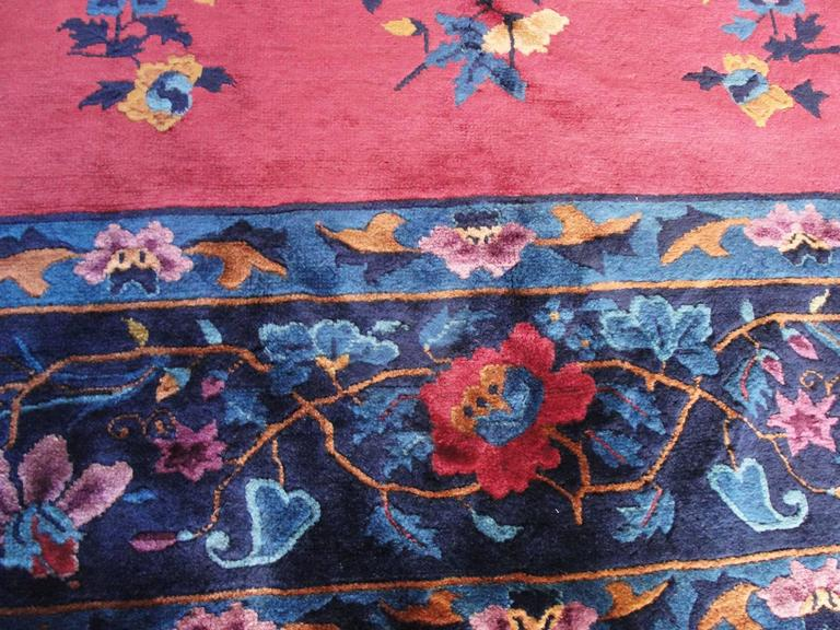 Manchester Wool Art Deco Carpet In Excellent Condition For Sale In Evanston, IL