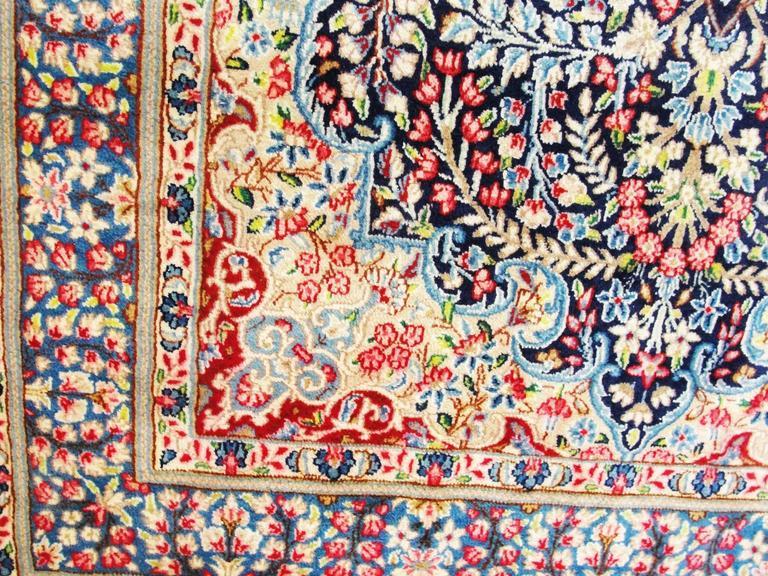 Magnificent Persian Kerman Tree Of Life Rug At 1stdibs