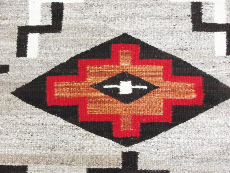 Two Grey Hills Navajo Rug Littaning Patterns At 1stdibs