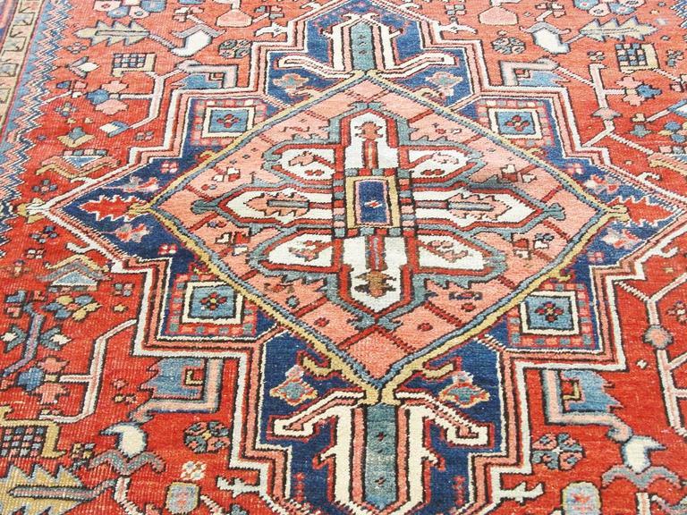 Attractive Antique Persian Heriz Carpet At 1stdibs