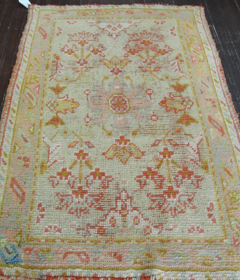 Incredible Antique Oushak Rug For Sale 2