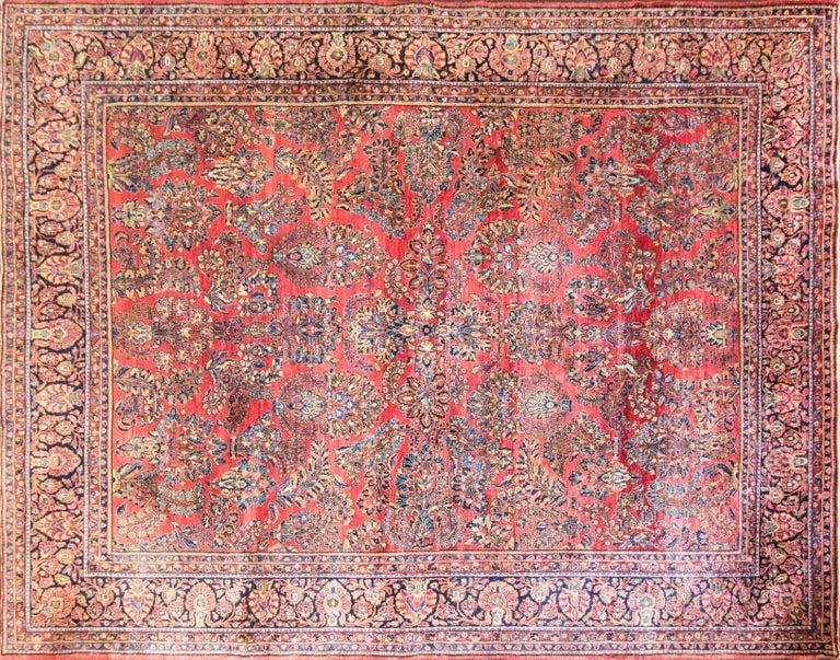Grape Design Persian Sarouk Circa 1930 Unusual Size At