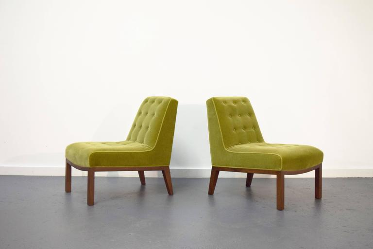 Pair of Slipper Chairs by Edward Wormley for Dunbar 2
