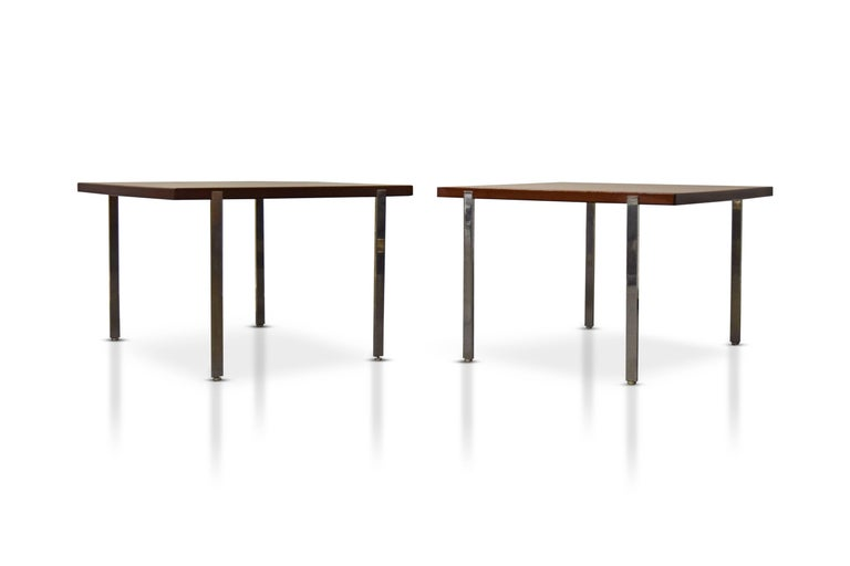 Pair of Harvey Probber architectural series end tables.