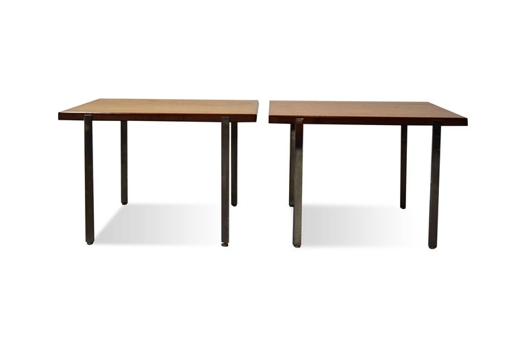 Mid-Century Modern Pair of Harvey Probber Architectural Series End Tables For Sale