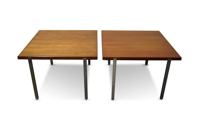 American Pair of Harvey Probber Architectural Series End Tables For Sale