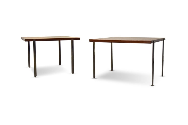 20th Century Pair of Harvey Probber Architectural Series End Tables For Sale