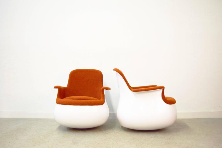 Pair of culbuto rocking chairs by marc held knoll at 1stdibs - Knoll rocking chair ...