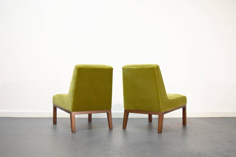 Pair of Slipper Chairs by Edward Wormley for Dunbar 4