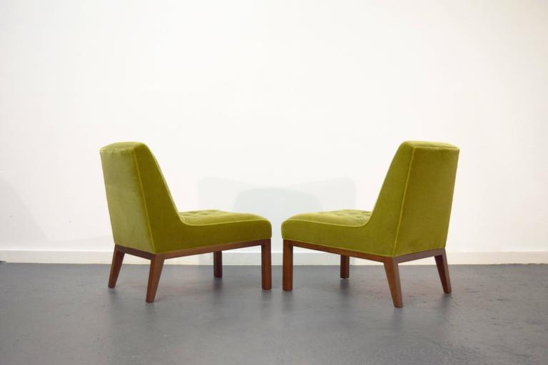 Pair of Slipper Chairs by Edward Wormley for Dunbar 5