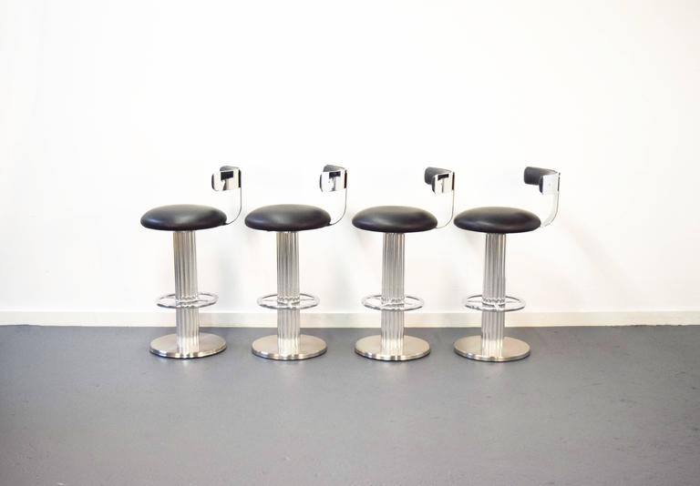 Set Of Four Swivel Bar Stools By Designs For Leisure At