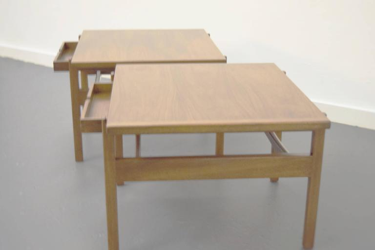 Pair of Jens Risom End / Side Tables For Sale 1