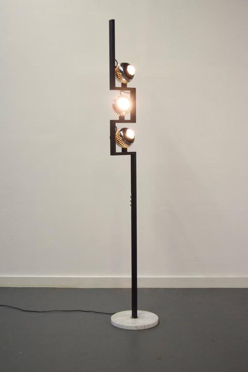 Italian Floor Lamp by Angelo Lelli for Arredoluce In Excellent Condition For Sale In Middlesex, NJ