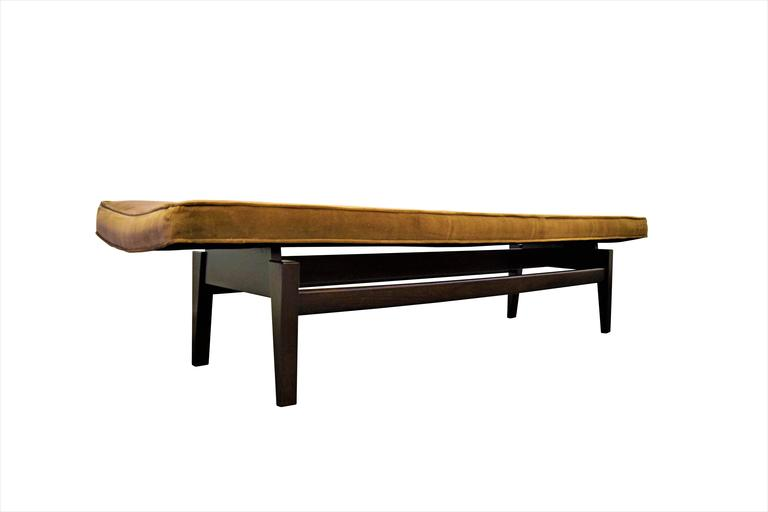 Mid-Century Modern Six Foot Floating Bench by Jens Risom For Sale
