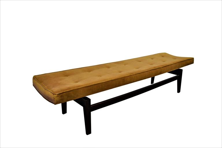 American Six Foot Floating Bench by Jens Risom For Sale