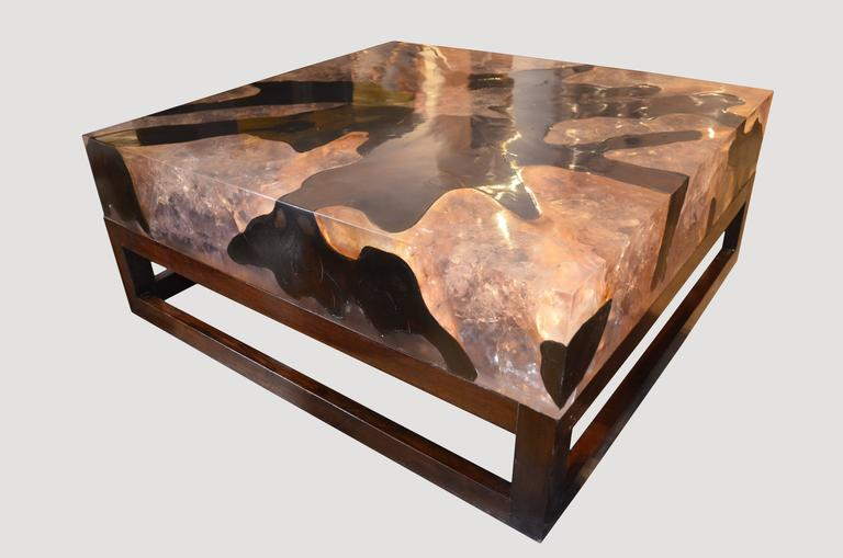 Andrianna Shamaris Cracked Resin Coffee Table For Sale At Stdibs - Coffee table depth